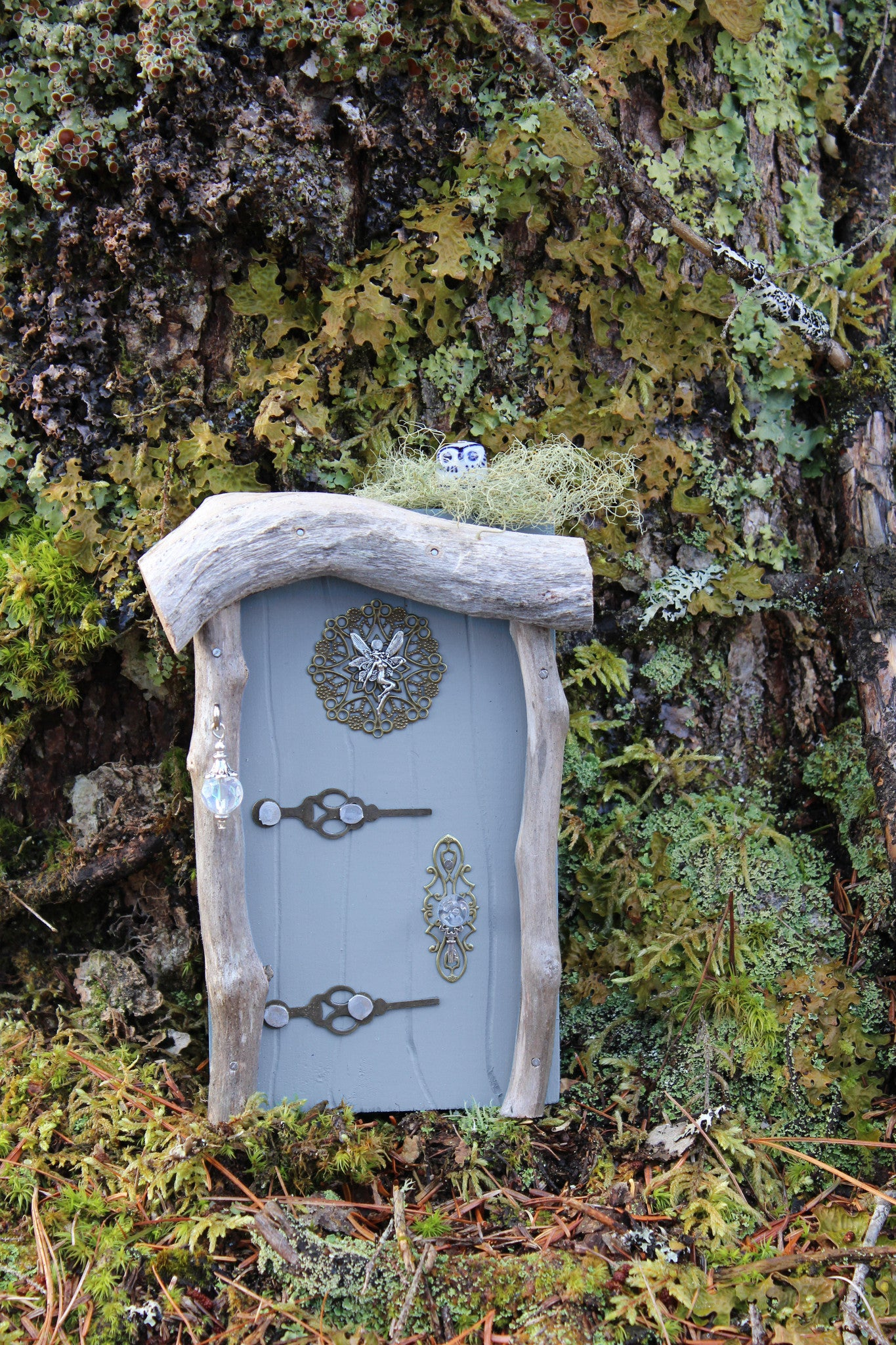 misty blue fairy door
