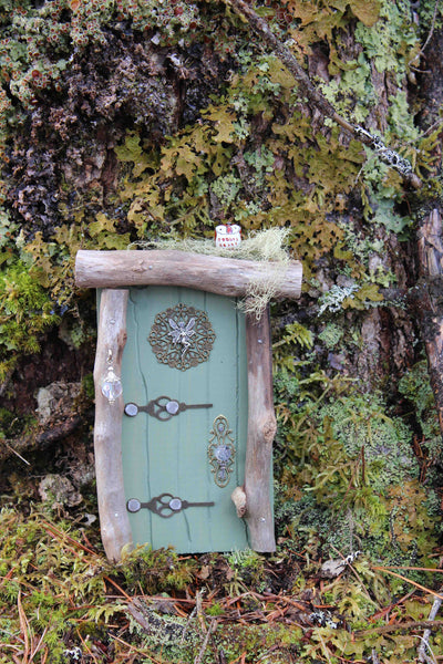 moss green fairy door