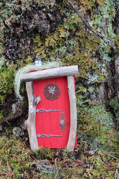 ladybug red fairy door