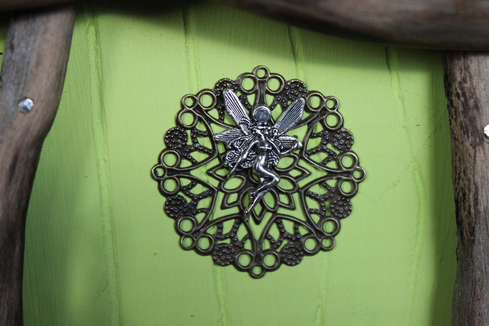 leaf lime fairy door, fairy charm