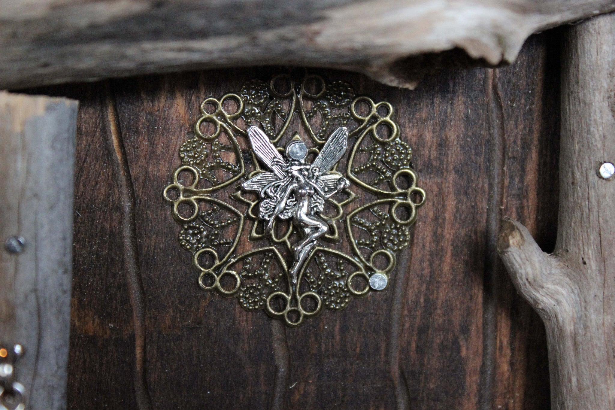brown fairy door, fairy charm