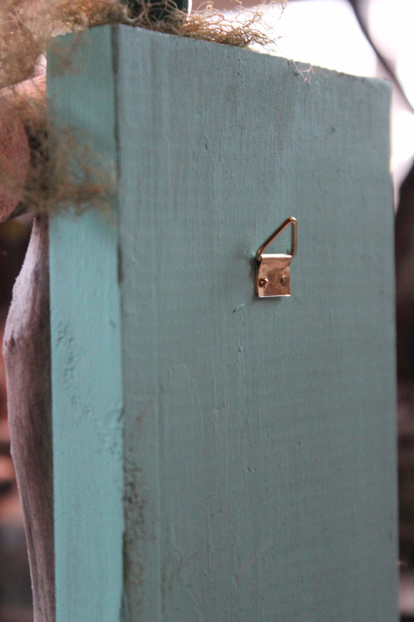 waterdrop aqua blue fairy door, back