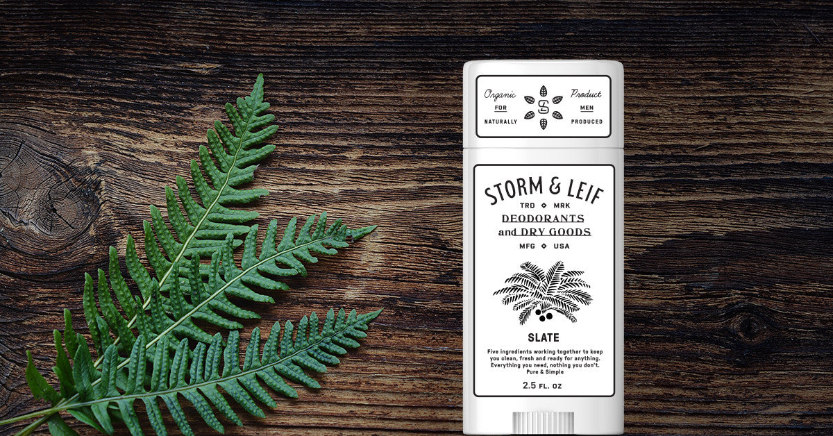 The best natural deodorant that actually works. Slate by Storm & Leif is an unscented, 100% organic deodorant
