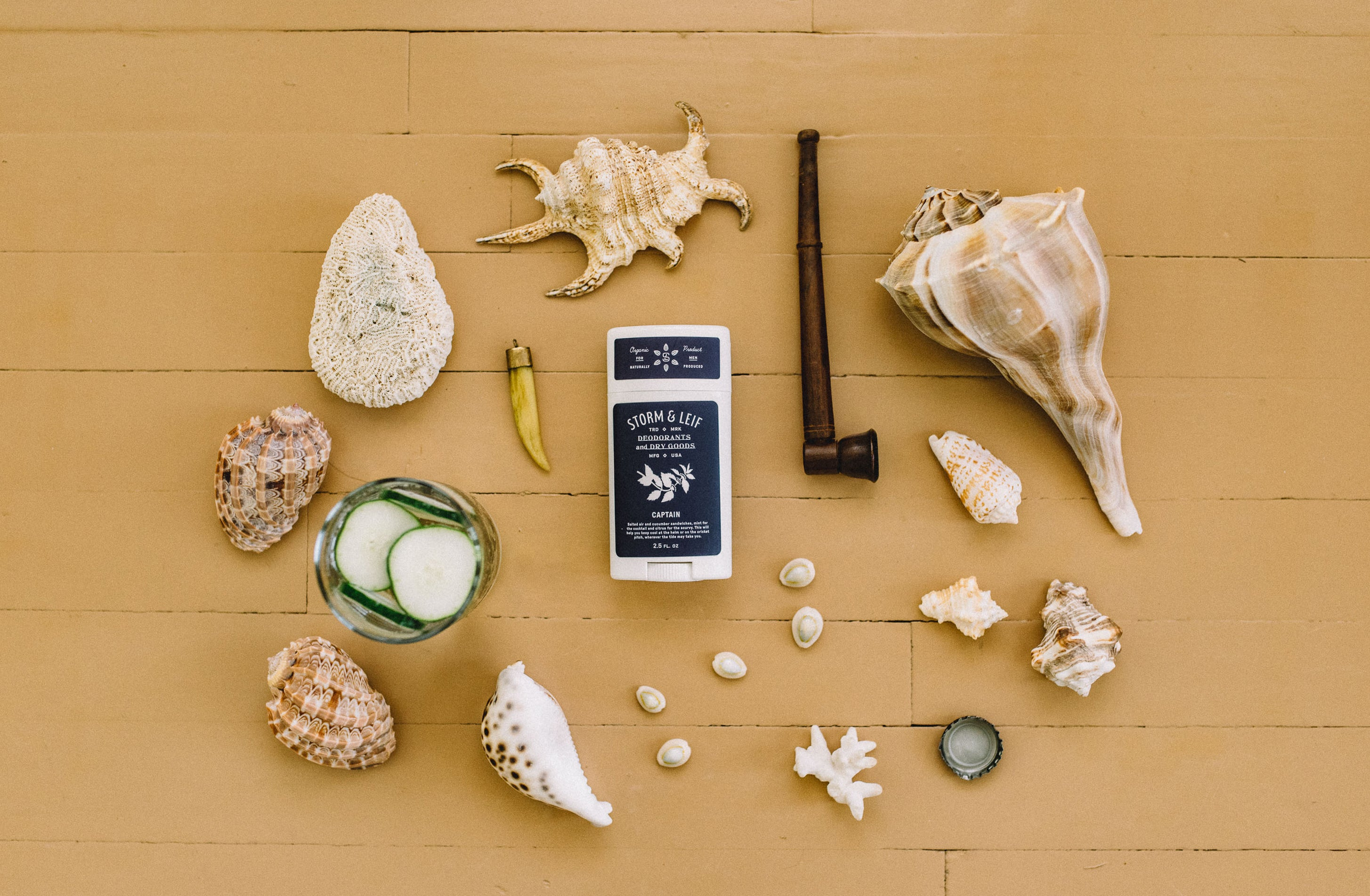 Vegan deodorant for men that works. 100% organic and all natural. Captain by Storm & Leif.