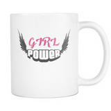 Girl Power 11oz Ceramic Coffee Mug Gift for Valentines day, Birthdays and Christmas