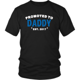 Promoted to Daddy Est 2017 shirt - Perfect gift for men.