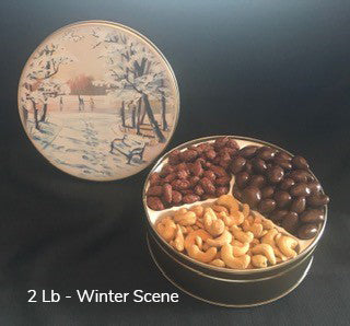 2 lb. Year Round Tins with Assorted Nuts