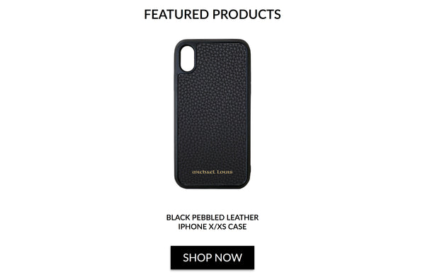 Black Pebbled Leather iPhone X/XS Case - Michael Louis