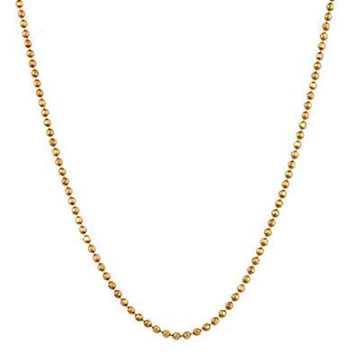 18kt Yellow Gold Ball Chain - 25 inches