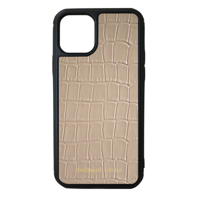 Beige Croc iPhone 11 Pro Case