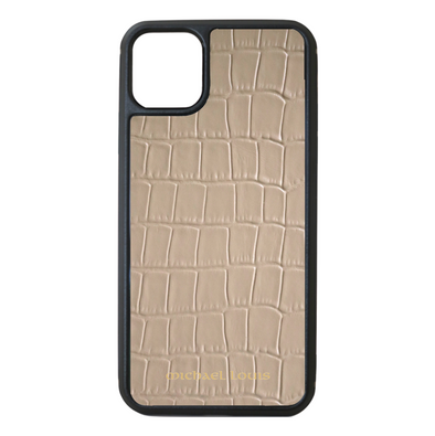 Beige Croc iPhone 11 Pro Max Case