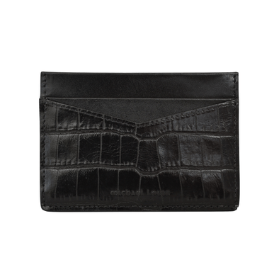 Black Croc V2 Card Holder