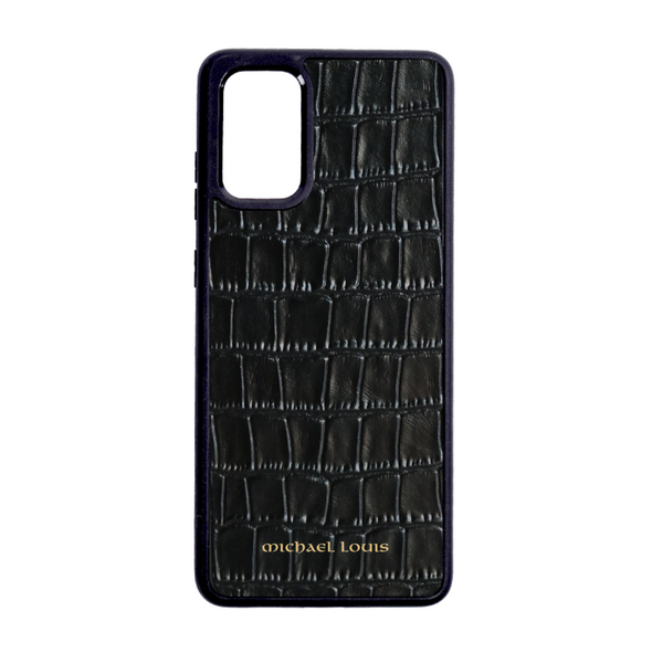 Black Croc Galaxy S20 Plus Case