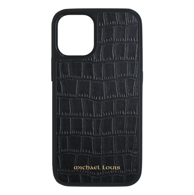 Black Croc iPhone 12 Mini Case