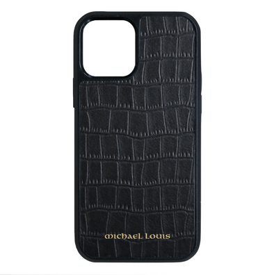 Black Croc iPhone 12 / 12 Pro Case