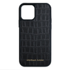 Black Croc iPhone 12 Pro Max Case