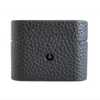Black Pebbled Leather Airpods Pro Case