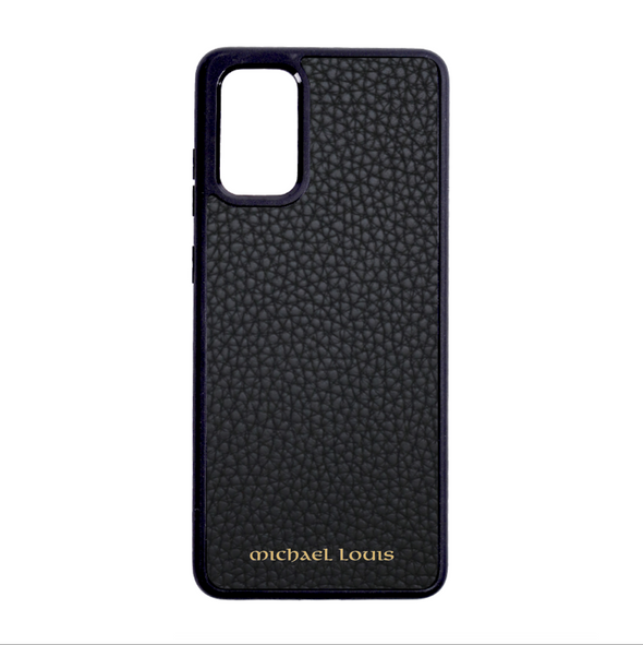 Black Pebbled Leather Galaxy Note 20 Ultra Case