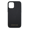 Black Pebbled Leather iPhone 12 Mini Case