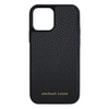 Black Pebbled Leather iPhone 12 / 12 Pro Case