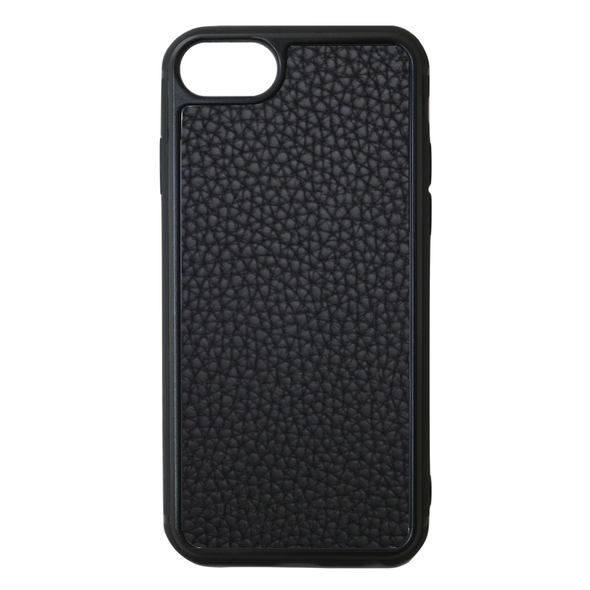 Black Pebbled Leather iPhone 7 / 8 / SE 2 Case