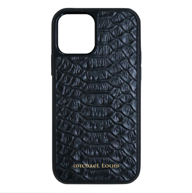 Black Python iPhone 12 / 12 Pro Case