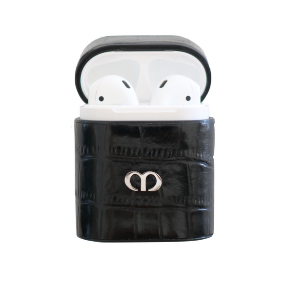 Black Croc Airpods Case