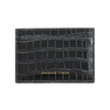 Black Croc Classic Card Holder