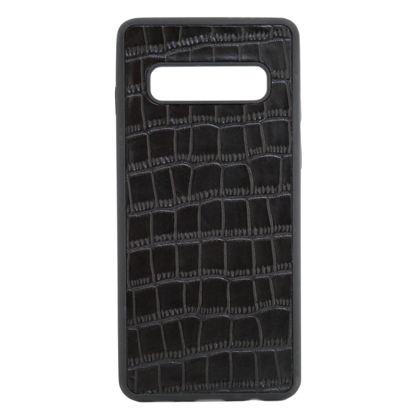 Black Croc Galaxy S10 Case