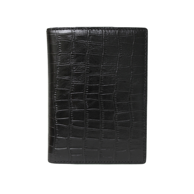 Black Croc Passport Holder