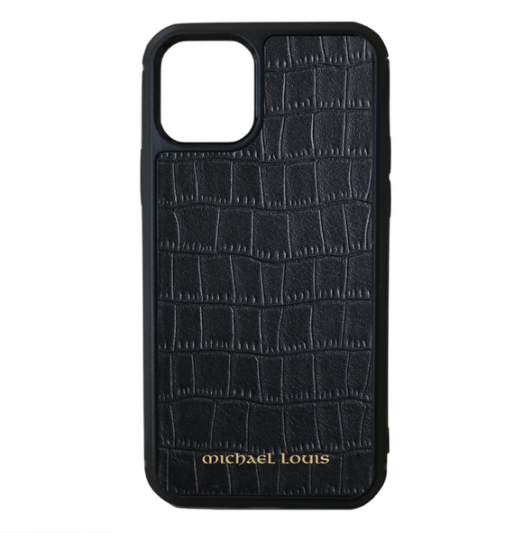 Black Croc iPhone 11 Pro Case