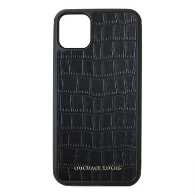 Black Croc iPhone 11 Pro Max Case