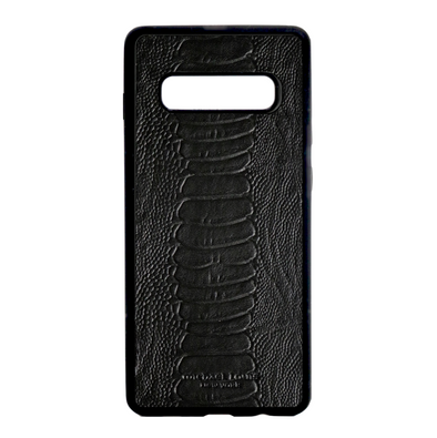 Black Ostrich Galaxy S10 Plus Case