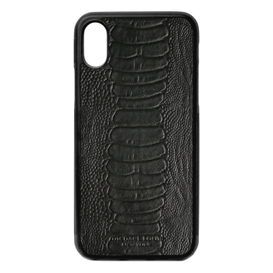 Black Ostrich iPhone X/XS Case