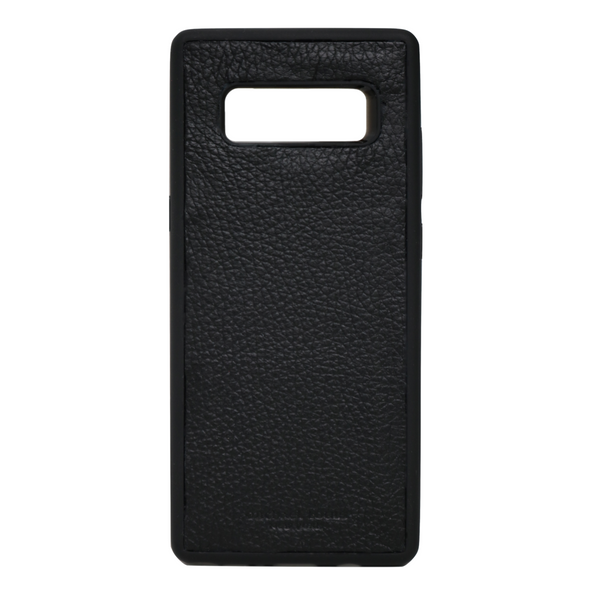 Black Pebbled Leather Galaxy Note 8 Case