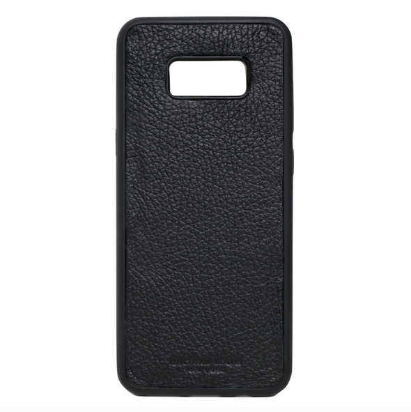 Black Pebbled Leather Galaxy S8 Plus Case