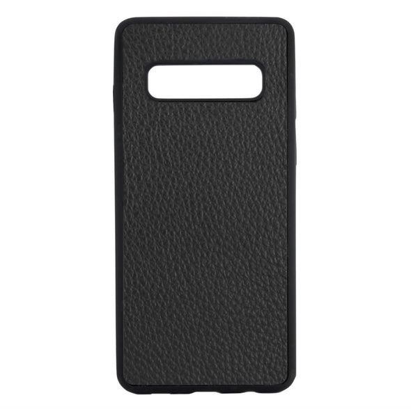 Black Pebbled Leather Galaxy S10 Case