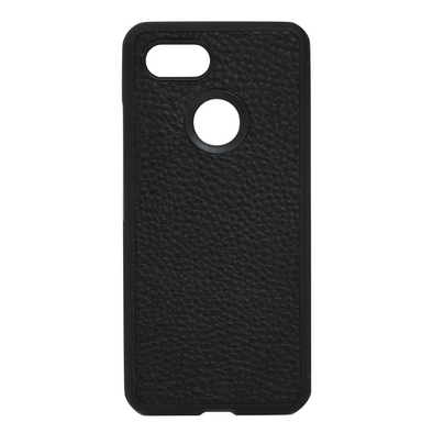 Black Pebbled Leather Pixel 3 XL Case
