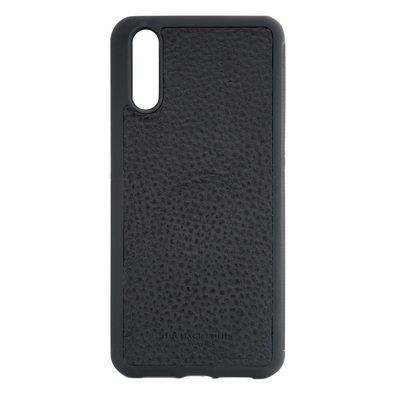 Black Pebbled Huawei P20 Case