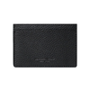 Black Pebbled Leather Classic Card Holder
