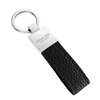 Black Pebbled Leather Classic Key Holder