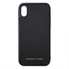 Black Pebbled Leather iPhone X/XS Case