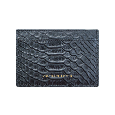 Black Python Classic Card Holder
