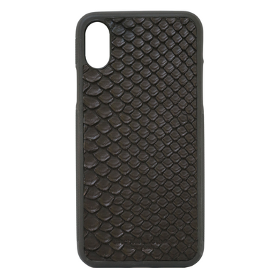Black Python Snakeskin iPhone XR Case
