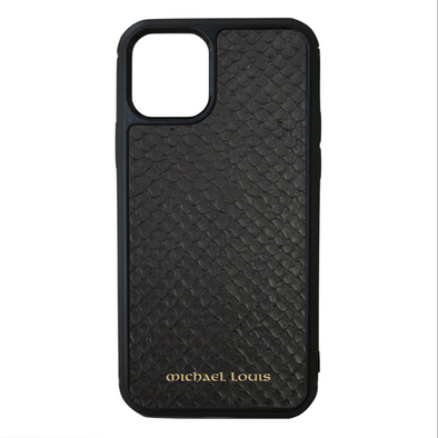 Black Python Snakeskin iPhone 11 Pro Case