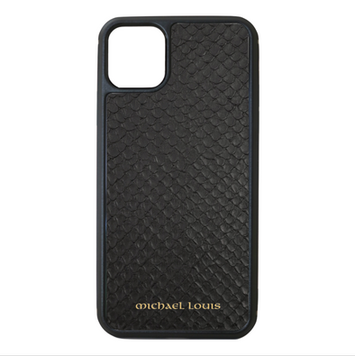 Black Python Snakeskin iPhone 11 Pro Max Case