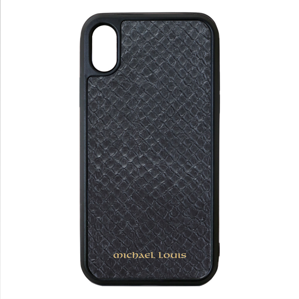 Black Python Snakeskin iPhone XS Max Case