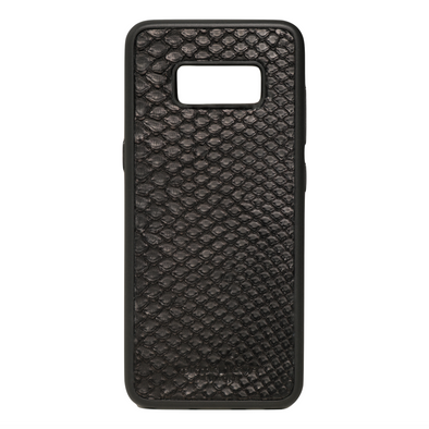 Black Python Snakeskin Galaxy S8 Case