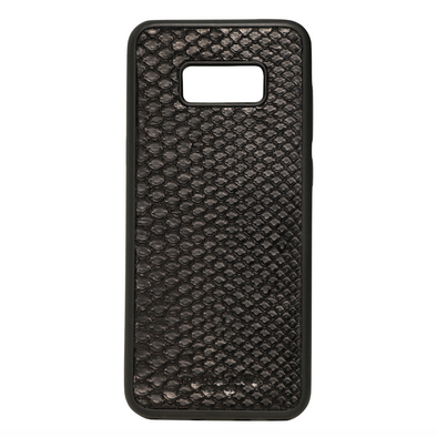 Black Python Snakeskin Galaxy S8 Plus Case
