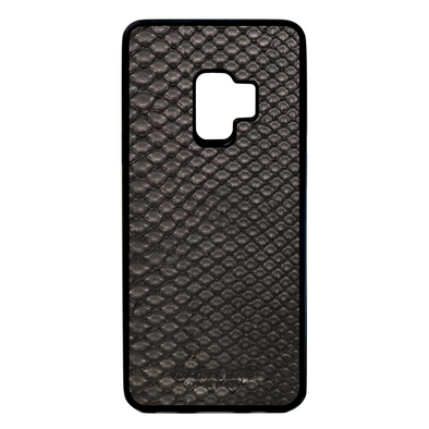 Black Python Snakeskin Galaxy S9 Case